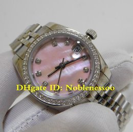Рамка женщина часы онлайн-16 стиль оригинальный футляр дамы роскошные часы Datejust 31 мм стальной розовый циферблат Алмазный безель Юбилейный браслет 178384 Азии автоматические женские часы