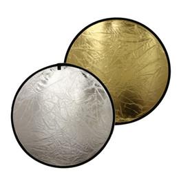 2 in1 60/80 / 110см Light Mulit Складной диск Фотосъемка Отражатель Фотостудия Аксессуары для вспышки Sliver / Gold от