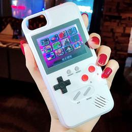 venta al por mayor de teléfonos celulares inteligente Rebajas Mini consolas de juegos portátiles Funda para iphone Funda protectora de gel de sílice Jugador de la máquina de juego retro Color LCD para iphone6 7 8plus 8 X más X XS