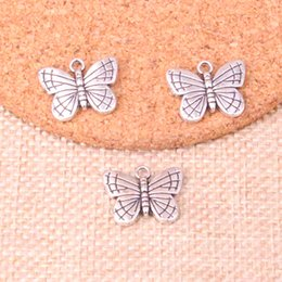 20//50//100Pcs Tibetan Silver Butterfuly Charm Space Beads 17MM