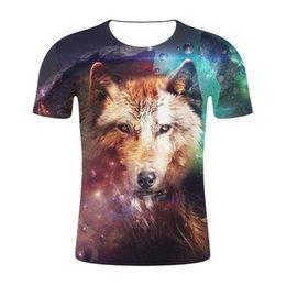 alla moda nuovo top della moda di moda Sconti 2019 New Fashion Uomo / Donna T-Shirt 3D Animal Wolf Stampa Progettato Elegante Estate T-Shirt Marca Top Tees Plus Size S-4XL
