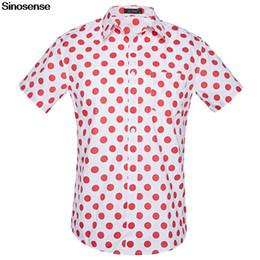 bbbe5d08 US Size Mens Beach Hawaiian Shirt 2019 Short Sleeve Polka Dot Printed Male  Dress Shirt Brand Men Summer Clothes Cotton Shirts