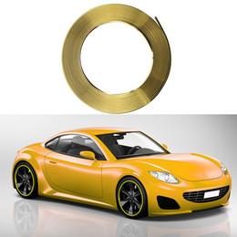 Adesivi ruota giallo online-8M occhio cattura Yellow Car Wheel Hub Rim Bordo Protector Anello pneumatici protezione in gomma Sticker Car Styling