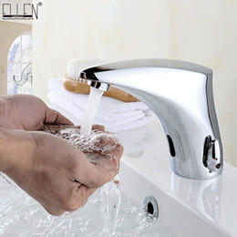 Rubinetti a infrarossi online-Rubinetto per lavandino del bagno Rubinetti Sensore Automatico infrarosso Rubinetto per lavandino del bagno Touchless Gru miscelatore acqua calda e fredda EL221