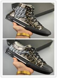 Deutschland Marke Plattform B23 High-Top-Sneaker Transparent Schwarz Segeltuchschuhe Womens Man Designer Schuhe Hochwertige Schuh Kalbsleder Gummisohle Turnschuhe Versorgung
