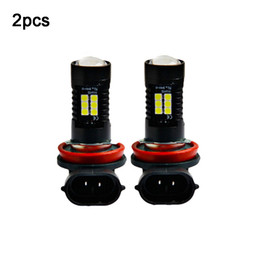 proyector de luz antiniebla led Rebajas 2pcs 12V 21W H11 3030 21SMD LED Auto Car Fog Light Bulb 6000K White Light Projector High Power Driving Lamp Signal Fog Lighs