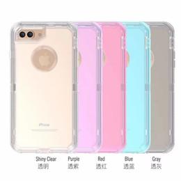 2019 iphone de cuerpo completo transparente 3in1 Funda transparente Carcasa completa Robots transparentes resistentes para iPhoneX Xr Xs Max 8 7 6 Plus Samsung S10 S10E S9 Note9 rebajas iphone de cuerpo completo transparente