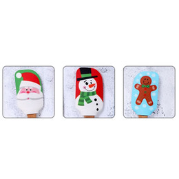 2019 postres de rosas Pastel de Navidad nueva espátula espátula de silicona crema de mantequilla mezcla la masa raspador de cepillo de mantequilla mezclador de la torta de la hornada de barras Cepillos Herramientas T2I5630