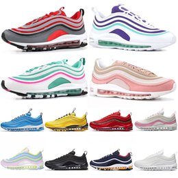 timeless design 6632a 25628 belles chaussures blanches Promotion nike 97 air 97 air max 97 Cushion Running  Chaussures Tennis OG