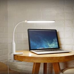klemmen für lichter Rabatt LED Clamp Schreibtischlampe Clip Tisch Eye Protect Book Lights 5W 24 LEDs USB Touch Nachtlicht