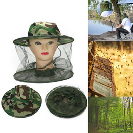beekeeping equipment Promo Codes - Unisex Beekeeping Veil Bee Keeping Hat Protective Equipment Fishing Caps