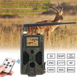 cámara oculta al aire libre Rebajas Cellular Wild Hunting Mobile Trail Cámara Trampas fotográficas de 16MP Correo electrónico MMS SMTP 1080P Visión nocturna HC330M Cámaras inalámbricas de vida silvestre
