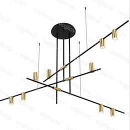 luces de techo colgantes para dormitorio Rebajas Nordic Modern Gold Luces colgantes LED 220v Araña de techo Loft Luces colgantes Restaurante Lámparas suspendidas Iluminación del dormitorio DHL