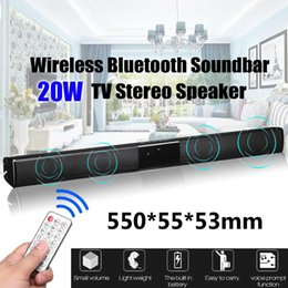 Wholesale 20W TV Lautsprecher Soundbar Bluetooth Wireless Theater Soundbar Fernbedienung