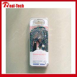 perlenkette kopfhörer Rabatt Perlenkette Headset Subwoofer Line Control mit Weizen für Apple Android-Handy Kopfhörer Universal-neue Art und Weise Ohrhörer weiblich