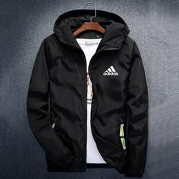 2019 uni-briefjacken Herbst Herren Jacken Mantel Marke Designer Kapuzenjacke Mit Logo Windjacke Reißverschluss Hoodies Für Männer Sportwear Plus Size Kleidung