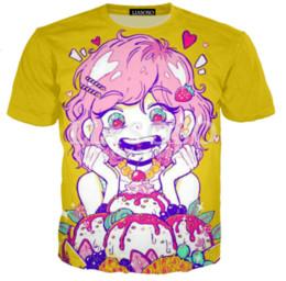 2019 New Hot Fashion T-shirt Impression 3D Bande Dessinée Anime Sexe Filles Neko T-Shirt Hommes / Femmes Hip Hop Streetwear Tops Tee À Manches Courtes Hip Hop Q687 ? partir de fabricateur