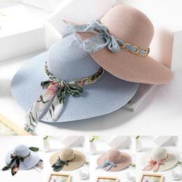 женские солнцезащитные шлемы Скидка Zerotime # 401 2019 МОДА Sunhat Дамы Женщины с широкими полями Floppy Складная Стро лето Sun Beach Wedding Hat Бесплатная доставка