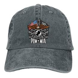 2019 New Custom bonés de beisebol de impressão chapéu Eagle POW MIA Mens  algodão ajustável lavado chapéu de boné de beisebol 5a740fb822d