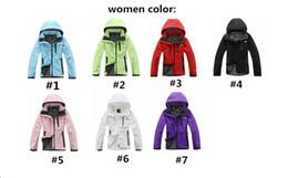 Blusa windstopper on-line-2019 Mulheres Homens NF Softshell Jacket The North Windbreaker Designer Brasão Outwear Zipper revestimentos encapuçados face WindStopper sportswear Marca B2281