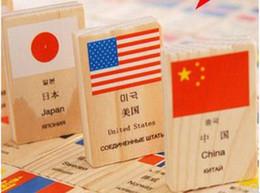 Bandiere puzzle online-I bambini conoscono la bandiera nazionale domino 100 pezzi di puzzle in legno puzzle di apprendimento dei giocattoli cognitivi conoscenza dello sviluppo intellettuale