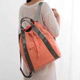 Большой тканевый мешок онлайн-Большой новый тотализатор стиль путешествия противоугонные сплошной цвет Оксфорд ткань студент колледжа мешок школы книга ноутбук компьютер шнурок рюкзак сумка