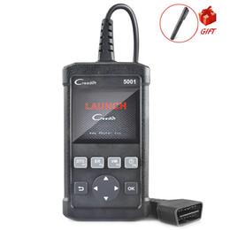 Argentina OBD2 Escáner automático Lanzamiento Creader CR5001 Función OBD2 completa Herramienta de diagnóstico Lector de códigos Escáner con regalo Probador de líquido de frenos cheap vw launch Suministro