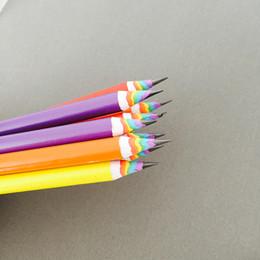 escola dos miúdos papelaria personalizada Desconto Lápis Papelaria 10pcs New lápis colorido do arco-íris Desenho de lápis para a escola escritório criativa Crianças Gift Set escrita