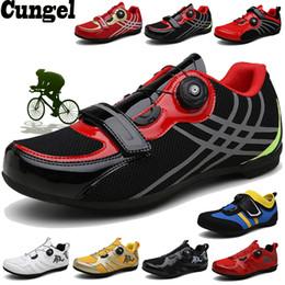велоспорт Скидка cungel дышащий Pro самоконтрящиеся Велоспорт обувь Дорожные обувь Велосипед Ultralight Спортивный гоночный кроссовки Zapatos Ciclismo