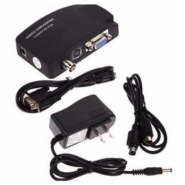 2019 cámara vga pc Cámara CCTV BNC S-Video Convertidor VGA a VGA Caja de PC a TV Salida de entrada Adaptador convertidor de monitor de computadora portátil para cámara vga pc baratos