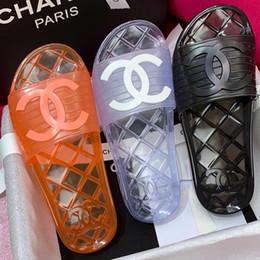 glissade ronde Promotion Nouvelle arrivée 2019 femmes sandales designer chaussures luxe diapo mode d'été large plat sandales glissantes pantoufle Flip mules avec taille de la boîte 35-40