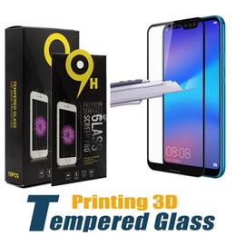 Печать 3D закаленное стекло жесткий Экран протектор гвардии для Huawei P20 Pro P10 Lite Nova 3 3e 2s Mate 10 9 Y6 Y7 Y9 честь V10 с пакетом от Поставщики huawei honor screen guard