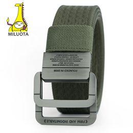 Equipo Cinturón táctico Hombre Anillo doble Hebilla Espesar Cinturones de lona para hombres Cintura desde fabricantes