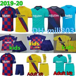 Mejores uniformes online-19 20 Barcelona Messi DE JONG GRIEZMANN jerseys de fútbol SUAREZ MALCOM maillot de foot jersey de Barcelona Dembele MAN 2019 2020 niños