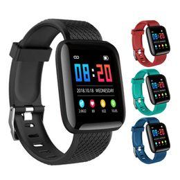 браслет Скидка 116 Plus Смарт-браслет Смарт-часы Фитнес-трекер Счетчик сердечных сокращений Шаг Монитор активности Band Band Браслет PK 115 плюс для Samsung Android