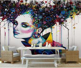 2019 pinturas clássicas anjos Papel de parede abstrato 3D Relief murais TV foto cenário romântico borboleta orquídeas 3D grande papel de parede pintura moderna