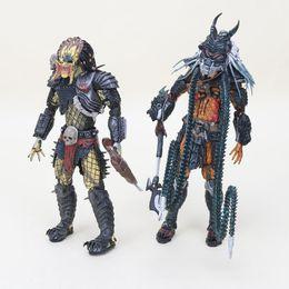 aliens raubtiere spielzeug Rabatt Aliens vs Predator-Serie Beton-Dschungel PVC-Action-Figur NECA Predator Clan-Führer
