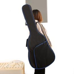 Cuerdas de guitarra clásica online-Thicken Folk Flattop Balladry Steel-string Acoustic Classical 41 pulgadas Funda para guitarra Funda Mochila Accesorios Llevar Gig
