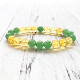 2019 pulseiras aventurina 3 contas de design de quartzo amarelo e verde aventurina pulseira de moda pulseira para mulheres dos homens yoga pulseiras mala desconto pulseiras aventurina