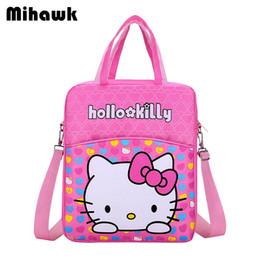 8e1ce24bff1f Mihawk Girl Hello Kitty Handbags Adjustable Cartoon Clothes Storage Duffel  Bag Travel Durable Zipper Grocery Pouch Gear Supplies