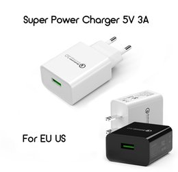 Iphone fcc on-line-Viagens Super Poder Apapter 5 V 3A EUA UE para o Telefone CE UL / FCC Certificação Carregador Para iPhone Samsung Huawei 123