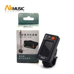 Instrumentos de guitarra china online-ENO ET-31E Erhu Chromatic Clip-on Tuner ENO Guitar Tuner Instrumento chino Color negro Envío gratis MU0111