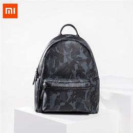 55ff0cff7f3ee Xiaomi VLLICON Leder Fashion Camouflage Rucksack Outdoor-Reise  Aufbewahrungstasche 14 Zoll Laptop-Tasche für Game-Spieler Schulter