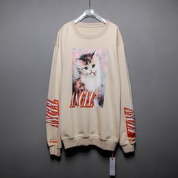 Heron Preston Angel Cat Printed Designer Pullover Lässige Sweatshirts Herren Damen Hip Hop High Street Pullover von Fabrikanten