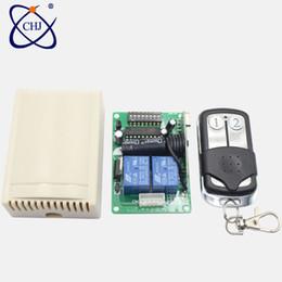 2019 drahtlose fernbedienung empfänger relais-modul 433 Mhz Universal Wireless Remote Switch DC12V 24 V 2CH Relais Empfänger Modul RF 433 Mhz für Lichtschalter günstig drahtlose fernbedienung empfänger relais-modul