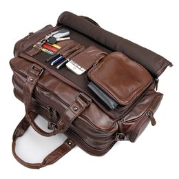 men big crosses Coupons - Nesitu High Quality Big Large Genuine Leather 15.6'' Laptop Office Men Briefcase Portfolio Business Travel Messenger Bag M7150
