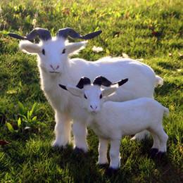 toy goats Rabatt 1 STÜCKE Kunsthandwerk Kleine Ziege Ornamente Spielzeug Simulation Schaf Puppe Für Kinder Geburtstagsgeschenk Klein Mittel Groß