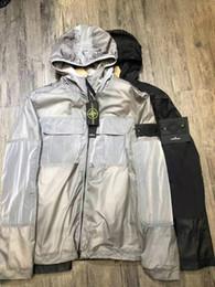 chapéu de feltro azul Desconto 2019 designer de rua retro Trench Coats mens jaquetas casal hit cor nylon de alta qualidade de costura ykk zipper acesso com capuz blusão