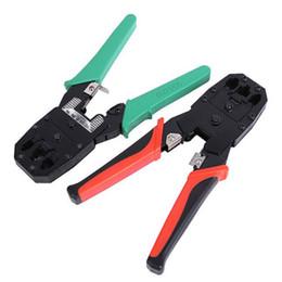 2020 strippers rj45 Doersupp Cable Crimper RJ45 RJ11 RJ12 CAT5 LAN Kit de herramientas de red Probador de cables Stripper Crimper Plier DC 9V Acero Magnatic strippers rj45 baratos