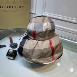 cinta tejida de jacquard Rebajas ¡Nuevo sombrero de sol Bur 2019, sombrero de sol superior vacío, sombrero de tela de paraguas de celosía de moda europea y americana, lanzamiento generoso! Correr mucho